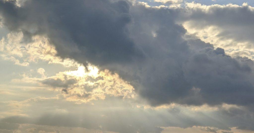 Wolken über Leverkusen